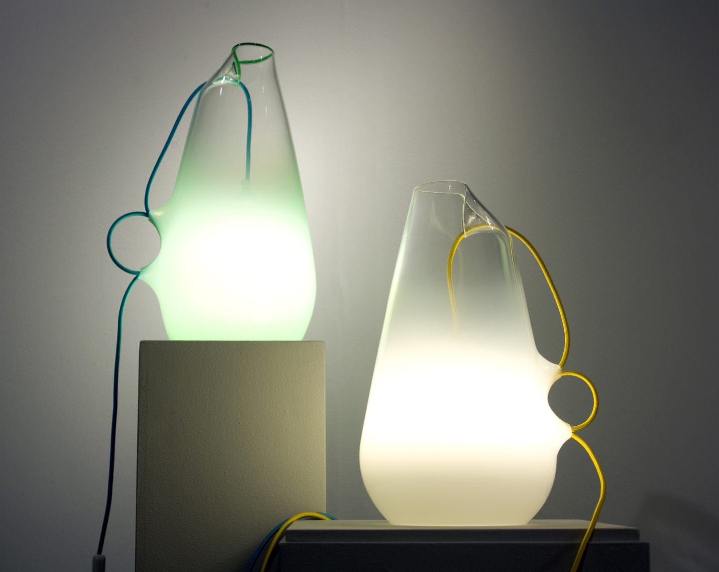 Glass Lights by Brad Turner titled Traden Lamps